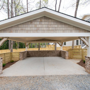 Inspiration for a medium sized classic detached double carport in Charlotte.