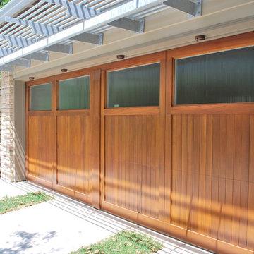 Carriage Door w/ Reed Glass by Cowart Door System