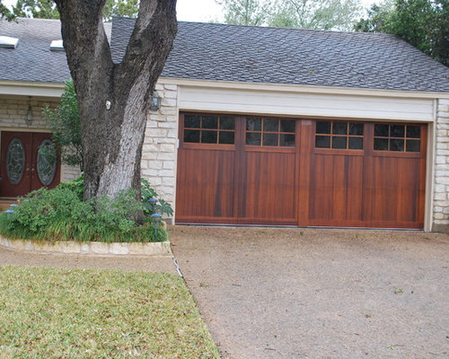 Full Wood Doors In A Craftsman Style