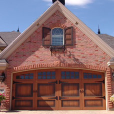 Traditional Exterior by Carriage House Door Company