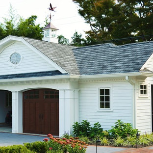Traditional detached two-car garage in New York.