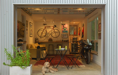 Houzz Tour: An Industrial-Style Home With a 'Motorcycle Cafe'