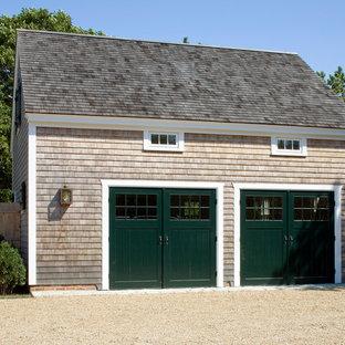 Freistehende, Mittelgroße Maritime Garage in Boston