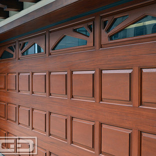 Classic Design Raised Panel Wood Garage Doors in Solid Wood Construction