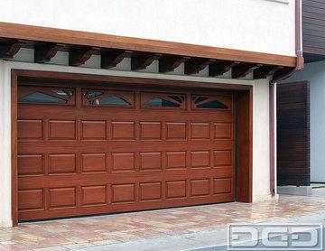 Classic Design Raised Panel Wood Garage Doors in Solid Wood Construction