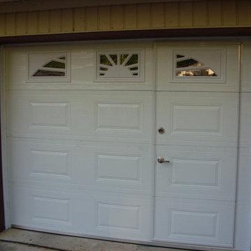 Classic Raised Panel WalkThru Garage Door