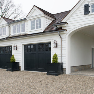 This is an example of a traditional detached garage in New York.
