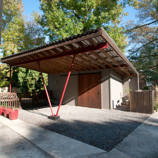 Inspiration for a medium sized contemporary detached single carport in Philadelphia.