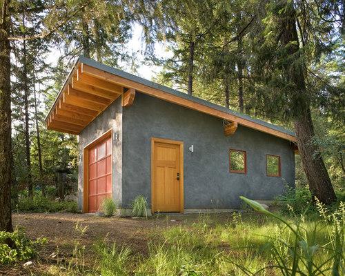 Slanted roof houzz for Building a detached garage on a slope