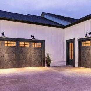 Idéer för att renovera en stor lantlig tillbyggd trebils garage och förråd