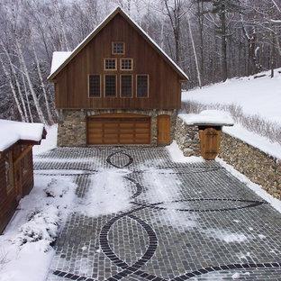 Foto di un garage per un'auto stile rurale
