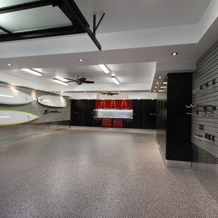 Inspiration for a huge modern detached three-car garage remodel in Toronto
