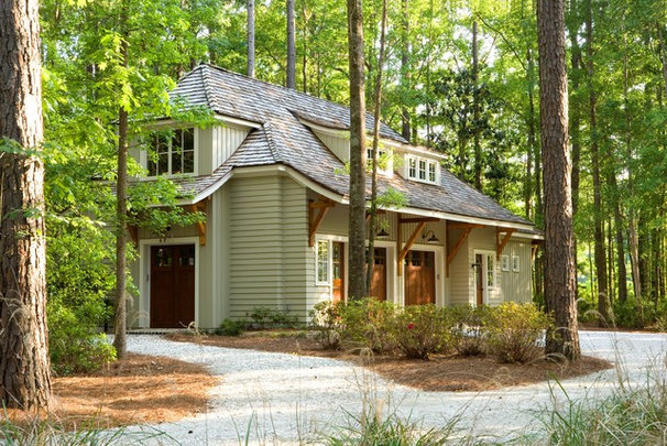 Craftsman Garage And Shed by Spivey Architects, Inc.