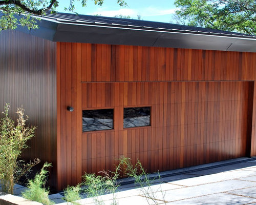 Wood Garage Doors W Strong Horizontal Vertical Designs