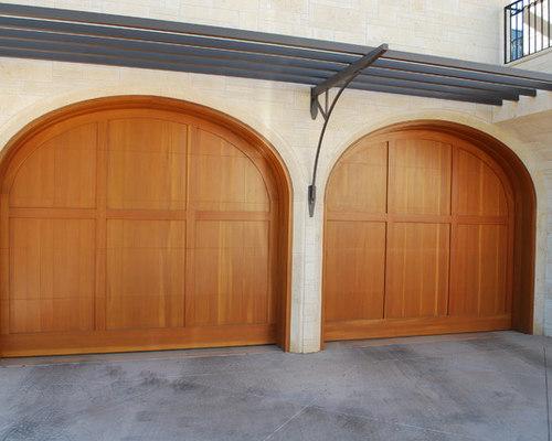 wood garage doorsWood Garage Doors w Strong HorizontalVertical Designs