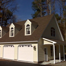 Traditional Garage And Shed by C.E. Mills General Contractors, Inc.