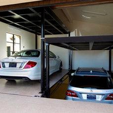 Mediterranean Garage And Shed by McKinley Elevator Corporation