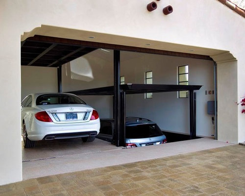 Residential car parking lifts houzz for Garage elevator lift