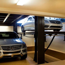 Contemporary Garage And Shed by McKinley Elevator Corporation