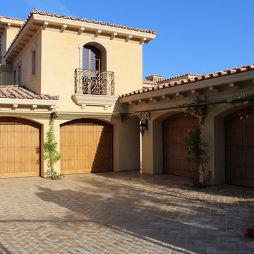 Custom Crafted Tuscan Style Garage Doors
