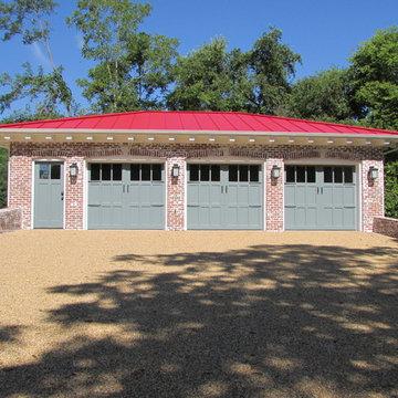 Custom detached garage