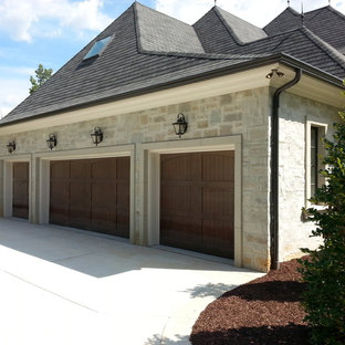 Mid-sized elegant attached four-car carport photo in Raleigh