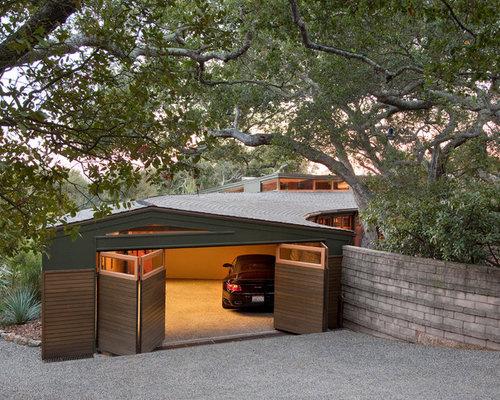 folding garage doors. minimalist attached garage photo in santa barbara folding doors e
