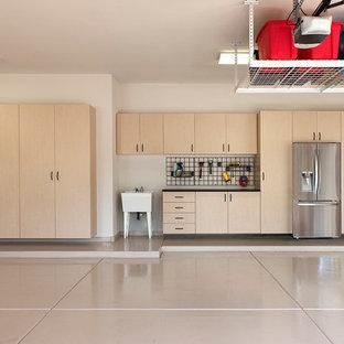 Idéer för ett mellanstort klassiskt tillbyggt kontor, studio eller verkstad