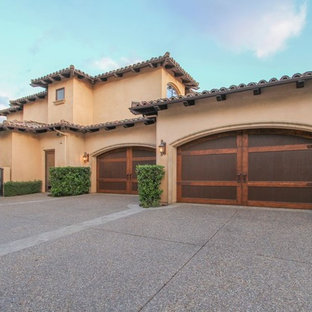 This is an example of a mediterranean garage in San Diego.