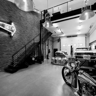 Design ideas for an industrial garage in Calgary.