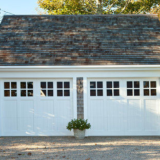 Example of a classic detached two-car garage design in Boston
