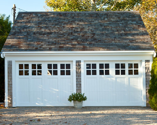 Traditional garage and shed design ideas pictures for Two car garage doors