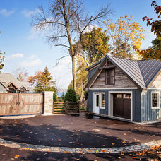 Transitional Garage And Shed by Madison Taylor
