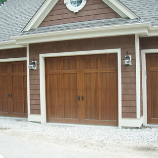 Idéer för att renovera en stor lantlig tillbyggd trebils carport