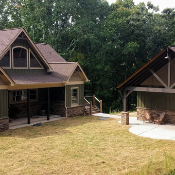 Dahlonega Rustic Mountain Home-Detached Garage & Amenity Area