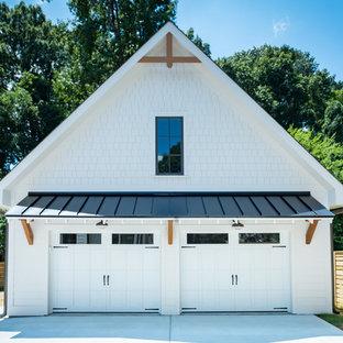 Garage - farmhouse garage idea in Charlotte