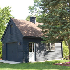 traditional garage and shed by JDJ Builders Inc.