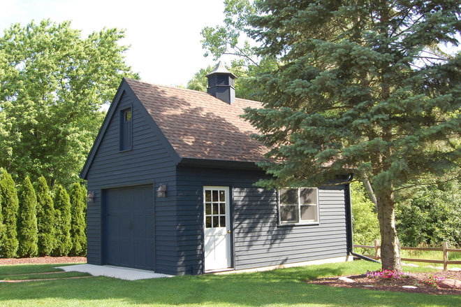 Traditional Garage And Shed by jDj lifestyle  design  remodel