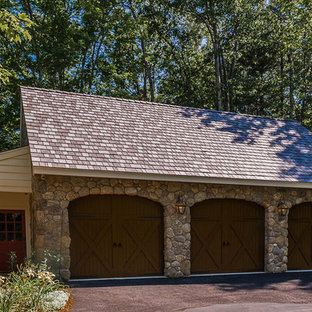 Esempio di garage e rimesse indipendenti rustici di medie dimensioni