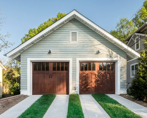 Sage green garage doors home design ideas renovations for Arts and crafts garage