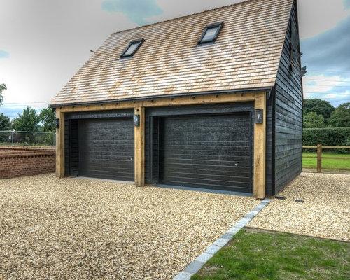 garages et abris contemporains avec un carport photos et id es d co de garages et abris de jardin. Black Bedroom Furniture Sets. Home Design Ideas