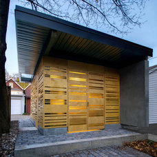 Contemporary Garage And Shed by Creative Union Network Inc.