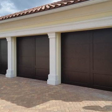 Eden Coast Custom Stained Garage Doors