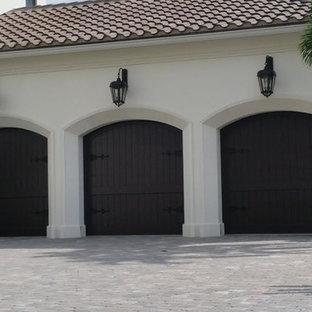 Eden Coast Custom Stained Garage Doors