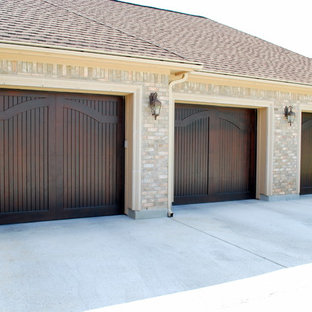 Elegant Arch Wood Doors in a Carriage Style by Cowart Door Systems