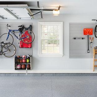 Idéer för en stor industriell tillbyggd garage och förråd