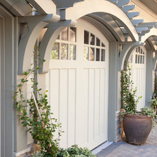 Traditional Garage And Shed by Three River Stone
