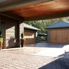 Craftsman Garage And Shed by Haggart Luxury Homes