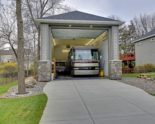 Rv garage houzz for Custom rv garages