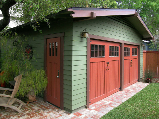 Craftsman Garage And Shed by Nott & Associates